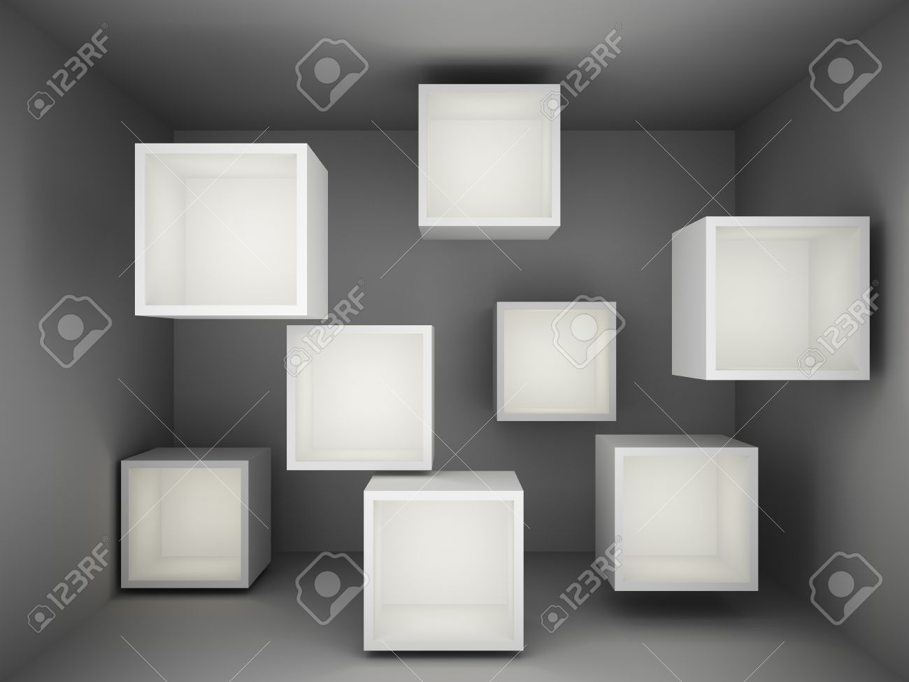 Abstract empty showcase with light Stock Photo - 18708235