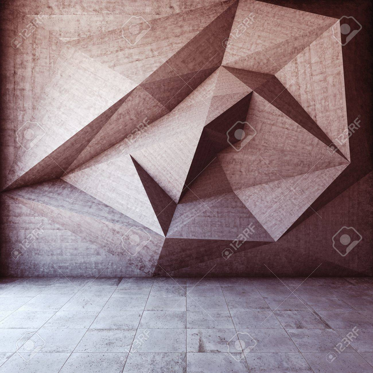 Abstract geometric background of the concrete Stock Photo - 21026046