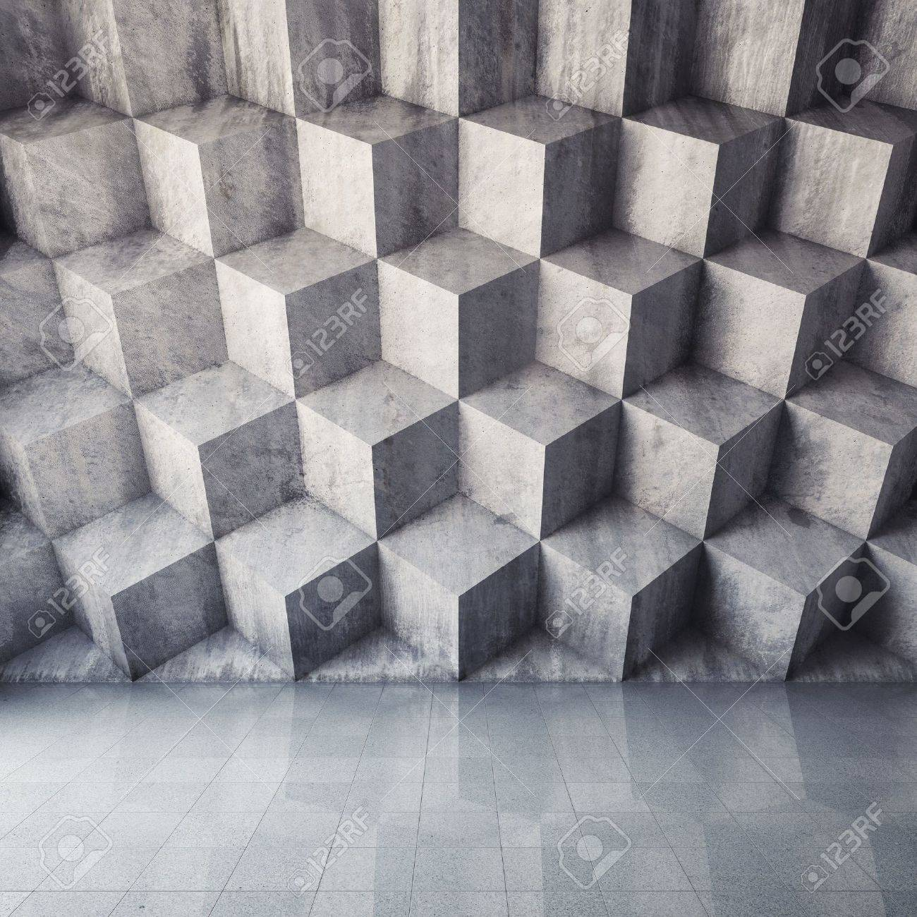 Abstract geometric background of the concrete Stock Photo - 21863762
