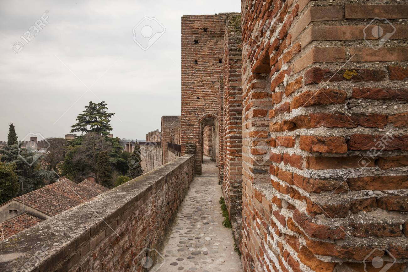 Cittadella, a medieval fortified walled town in Veneto province, north of italy - 147193836