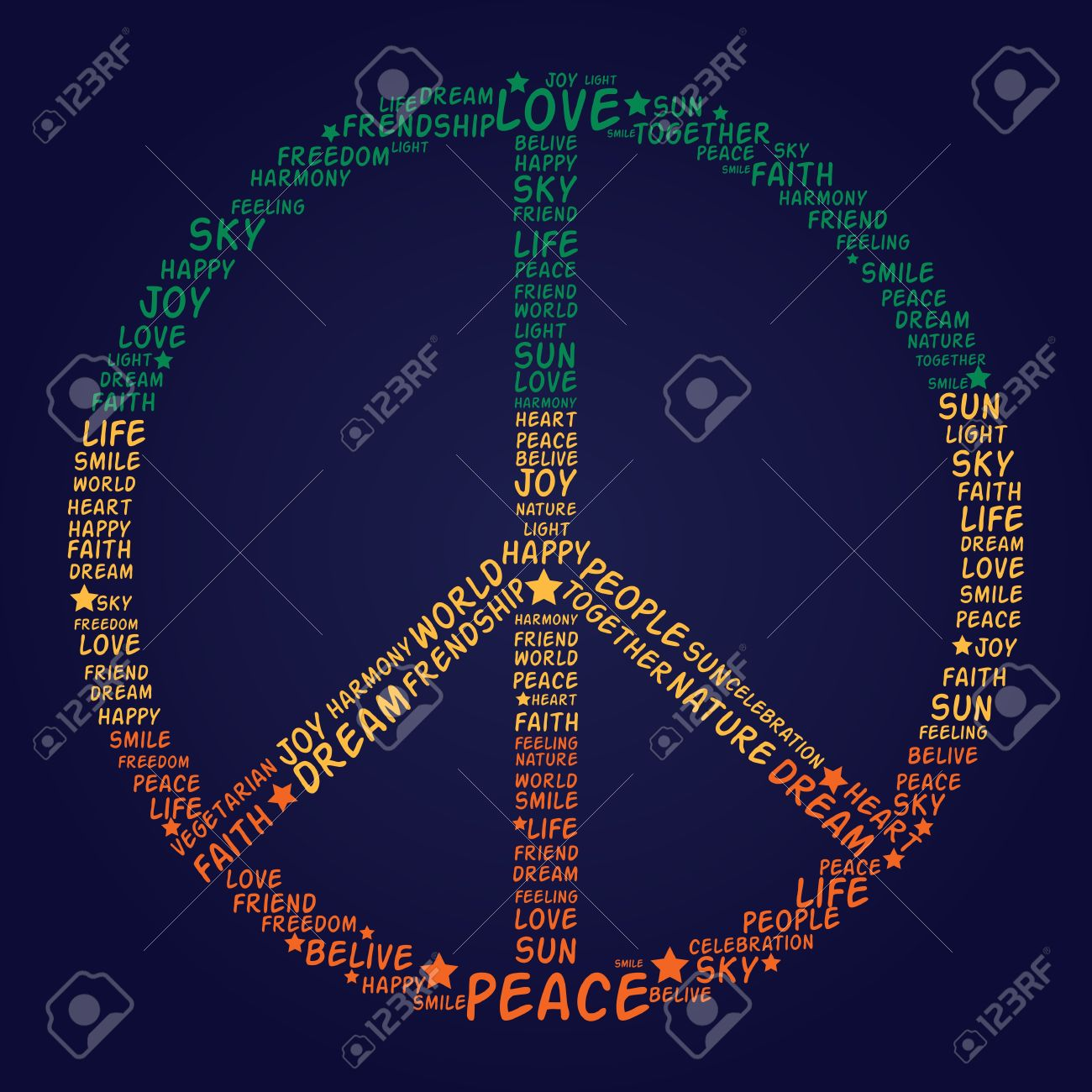 Vector peace symbol made of words vector illustration royalty vector peace symbol made of words vector illustration stock vector 16633041 biocorpaavc Image collections