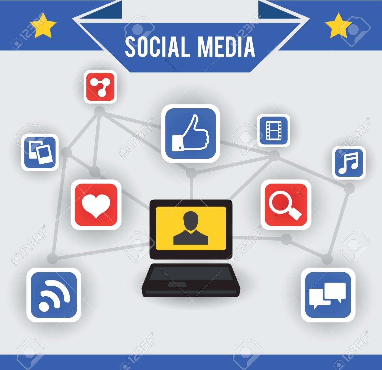 Abstract concept of social media - vector illustration Stock Vector - 19085061