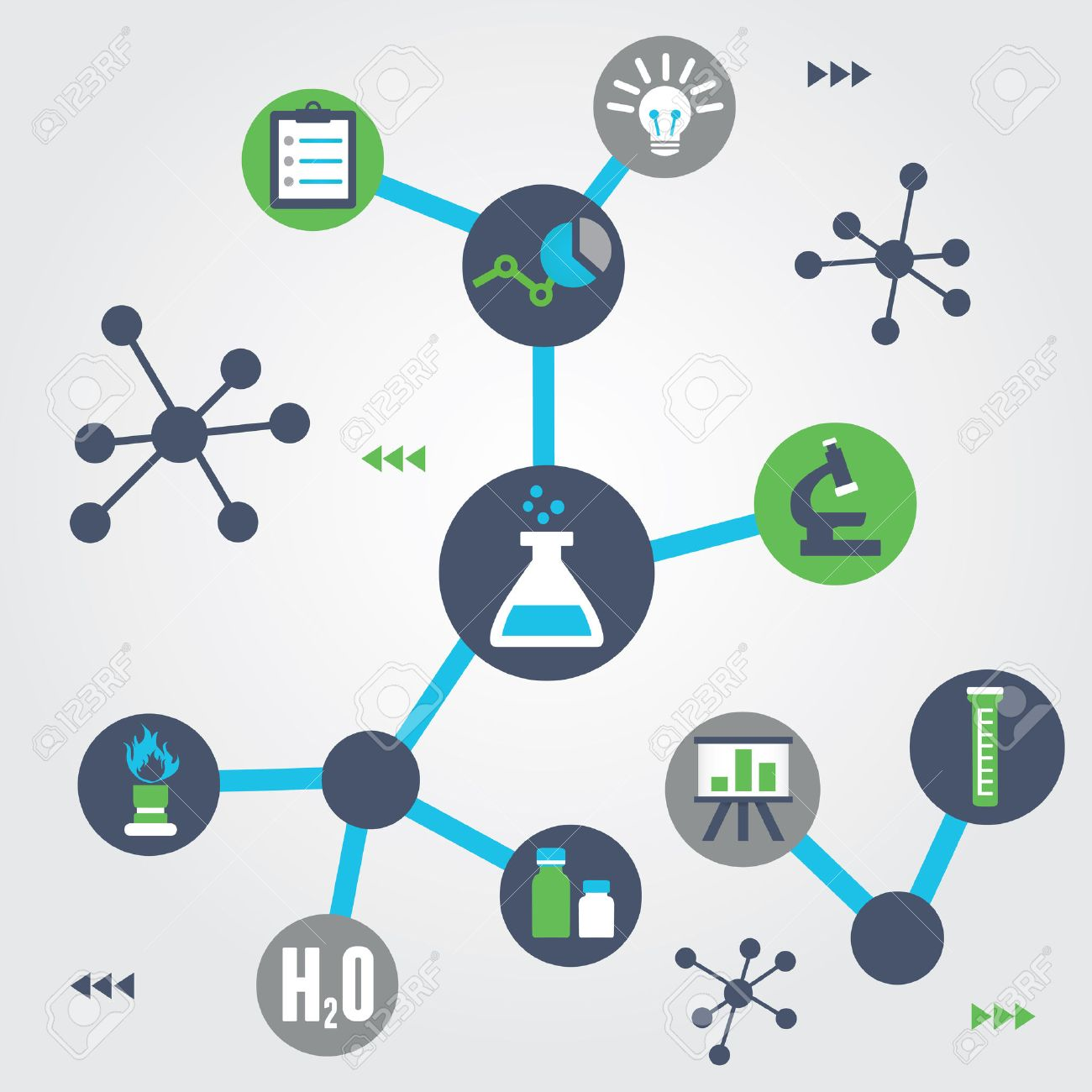 Concept of chemistry - vector illustration Stock Vector - 23103429