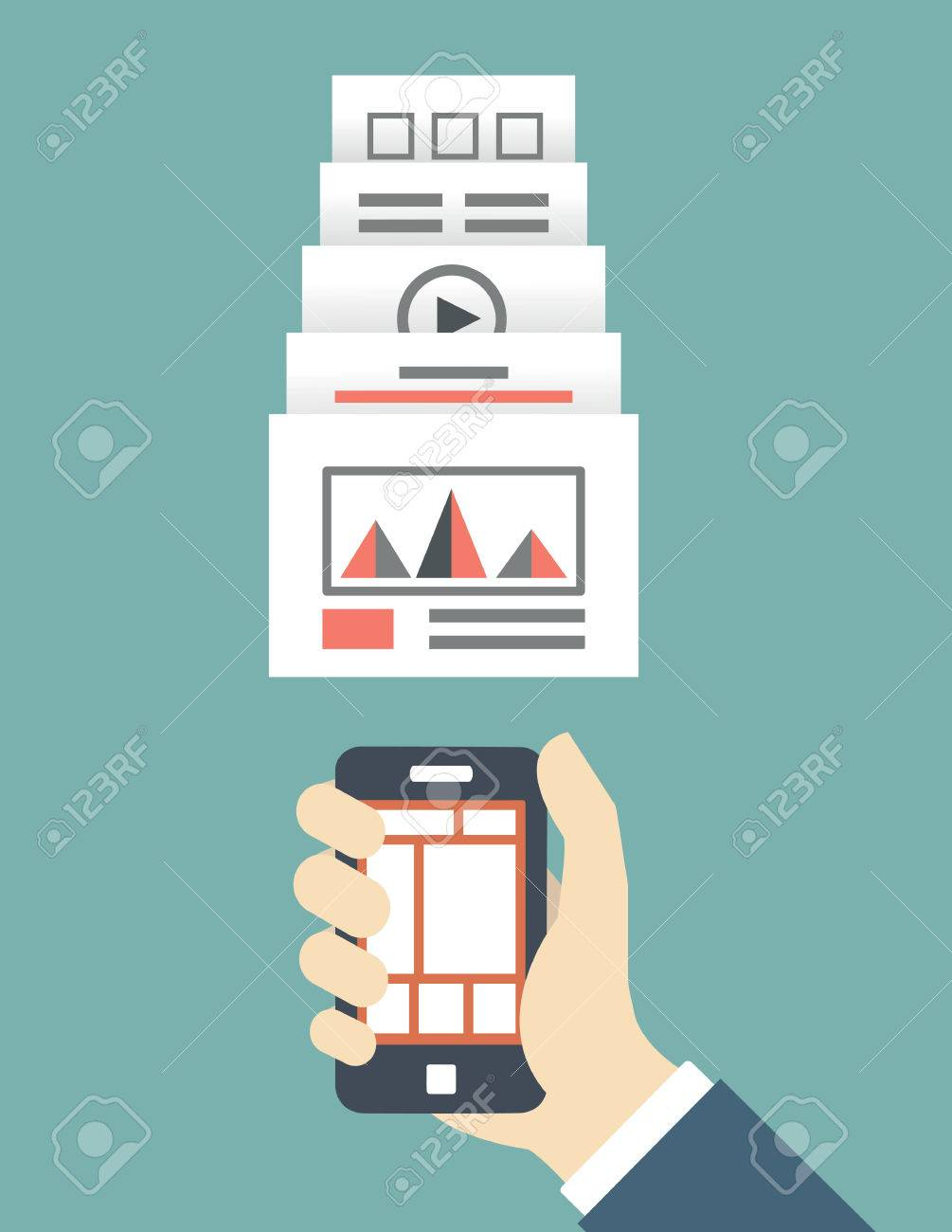 Responsive web design of mobile application for device - vector illustration Stock Vector - 27513117