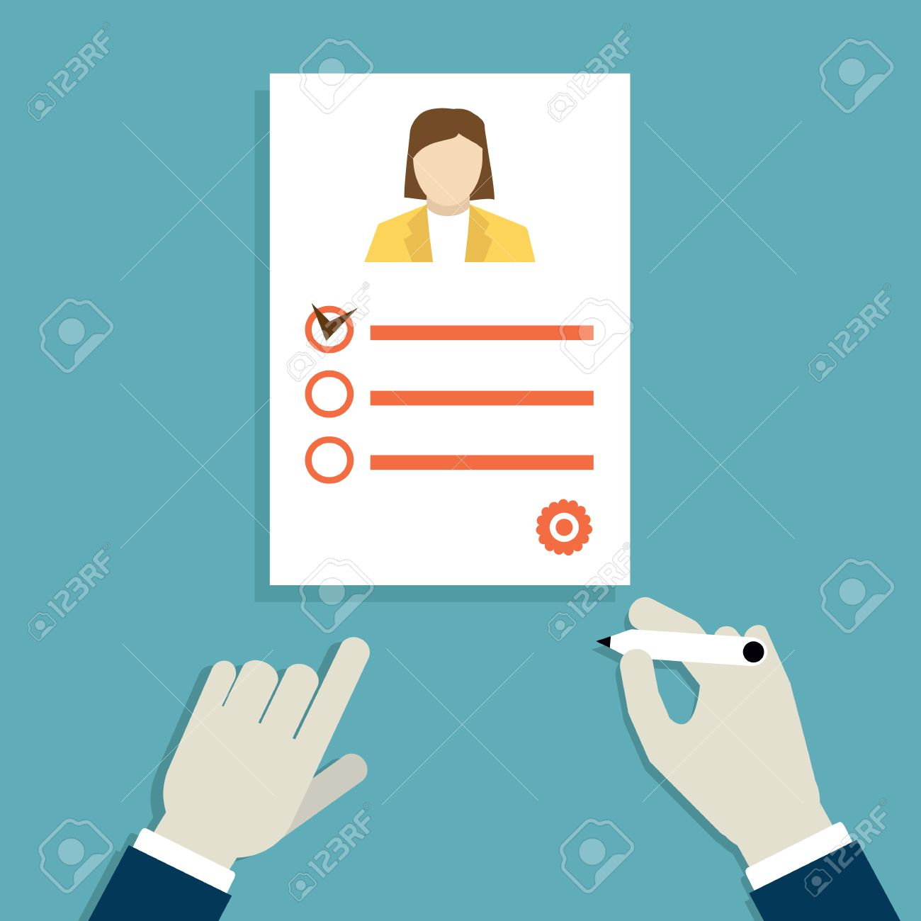 concept of job interview business resume vector concept of job interview business resume vector illustration stock vector 37436671