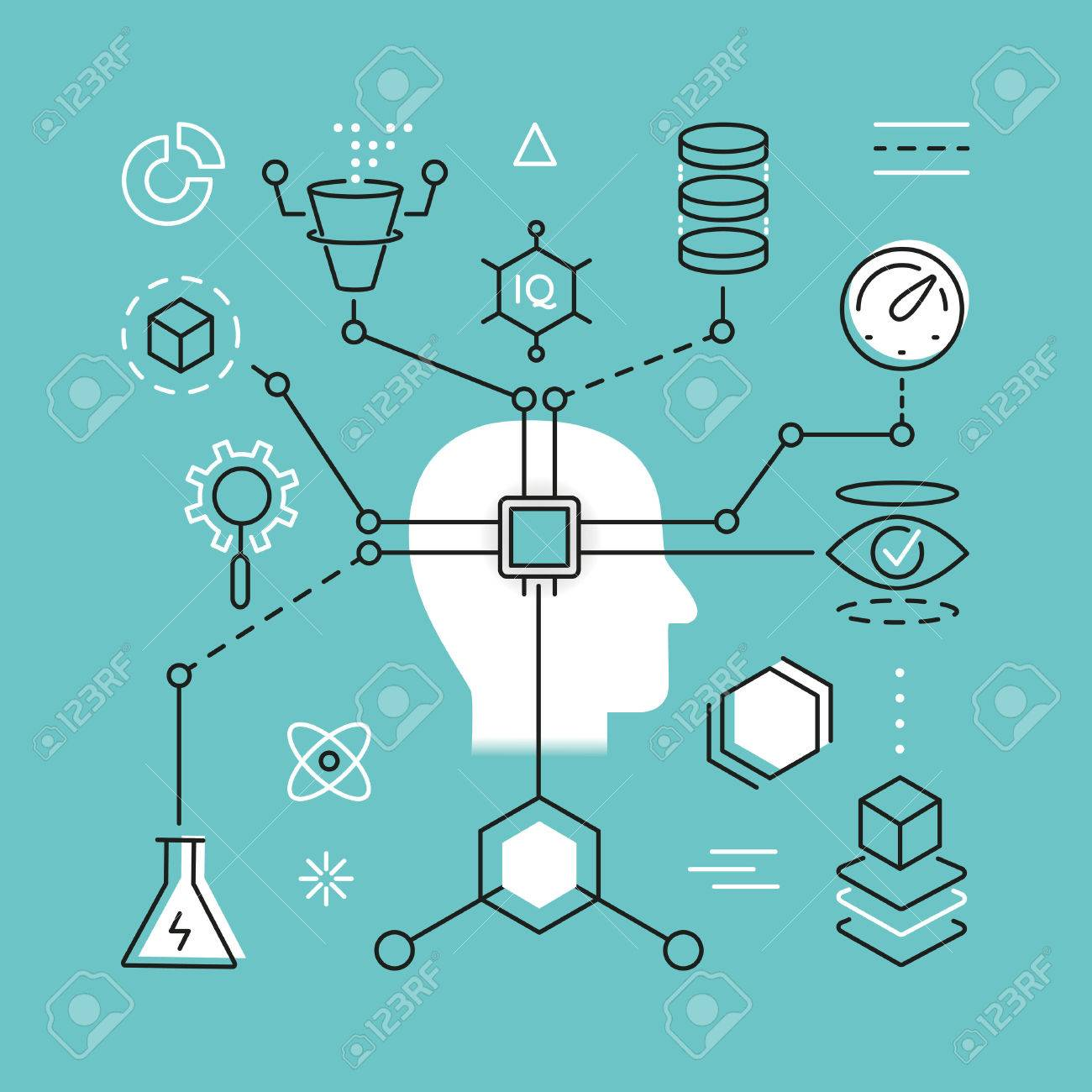 Modern Thin Line Concept of Artificial Intelligence and Data Science Technology - 58453367