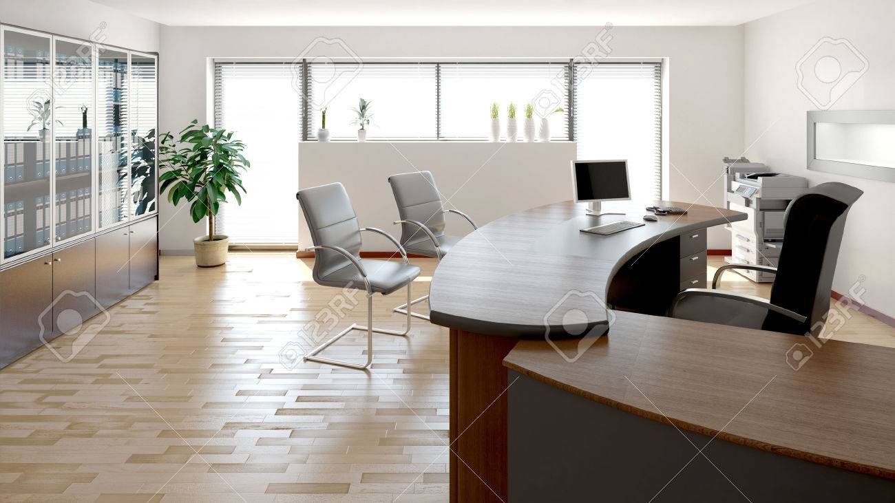 Rendu intérieur 3d dun bureau moderne banque dimages et photos