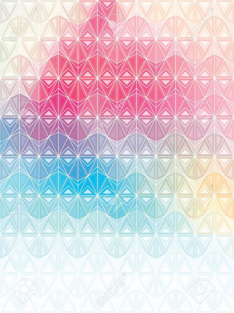 Souvent Design Multicolore Avec Des Formes Géométriques Triangulaires Avec  TG78
