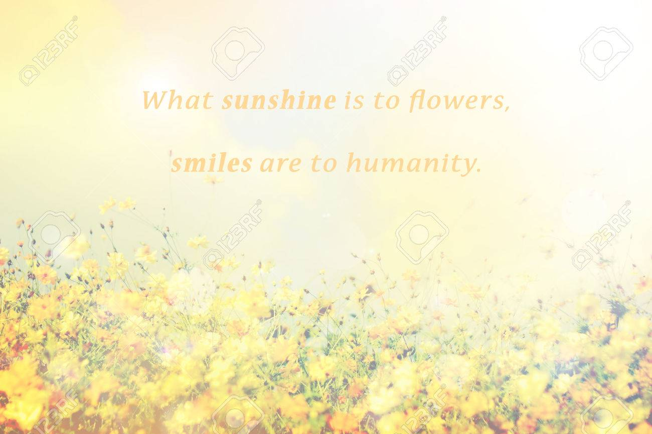 Inspirational typographic quote what sunshine is to flowers inspirational typographic quote what sunshine is to flowers smiles are to humanity with dhlflorist Images