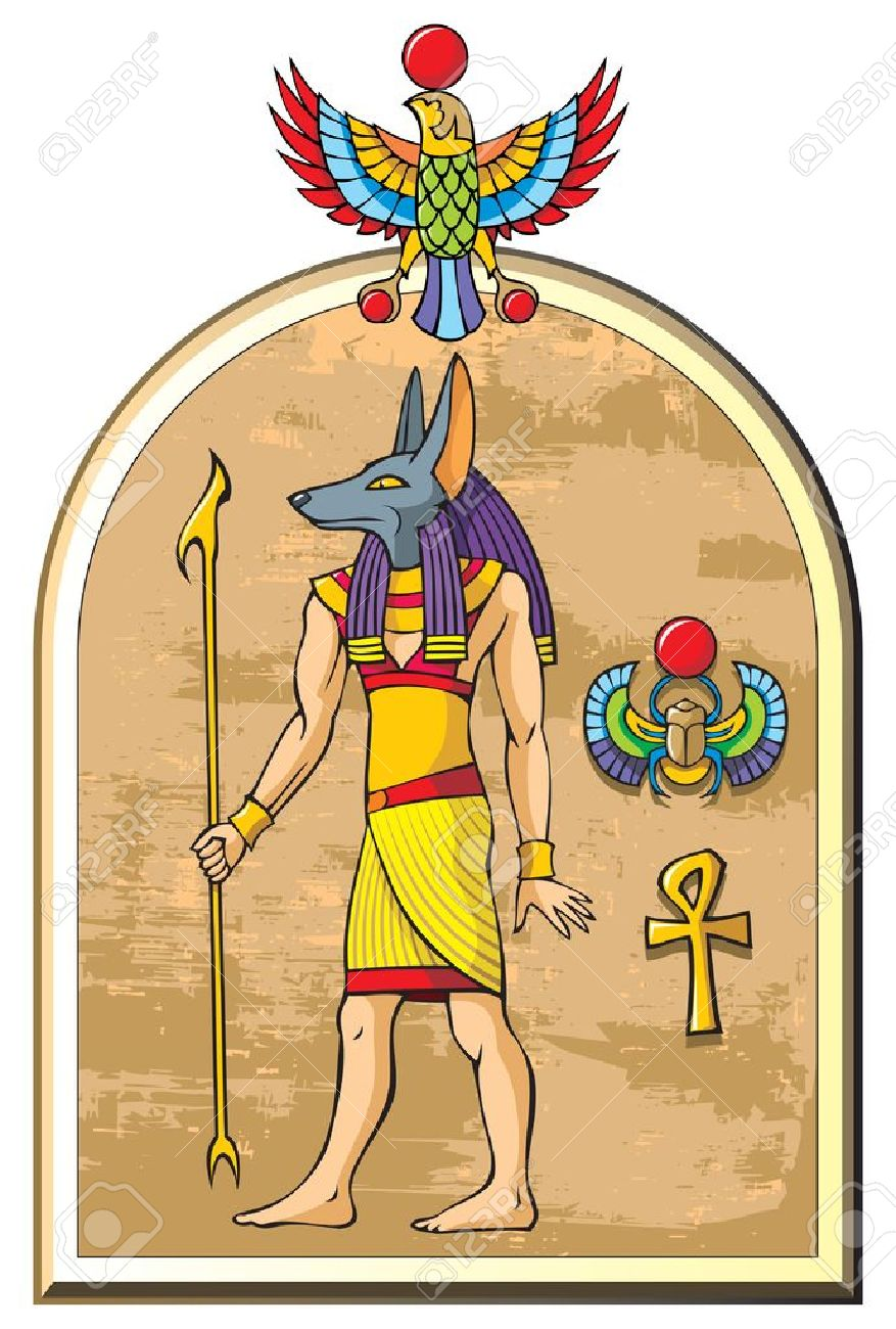 Stylized image of anubis the god of ancient egypt old papyrus stylized image of anubis the god of ancient egypt old papyrus background symbols biocorpaavc