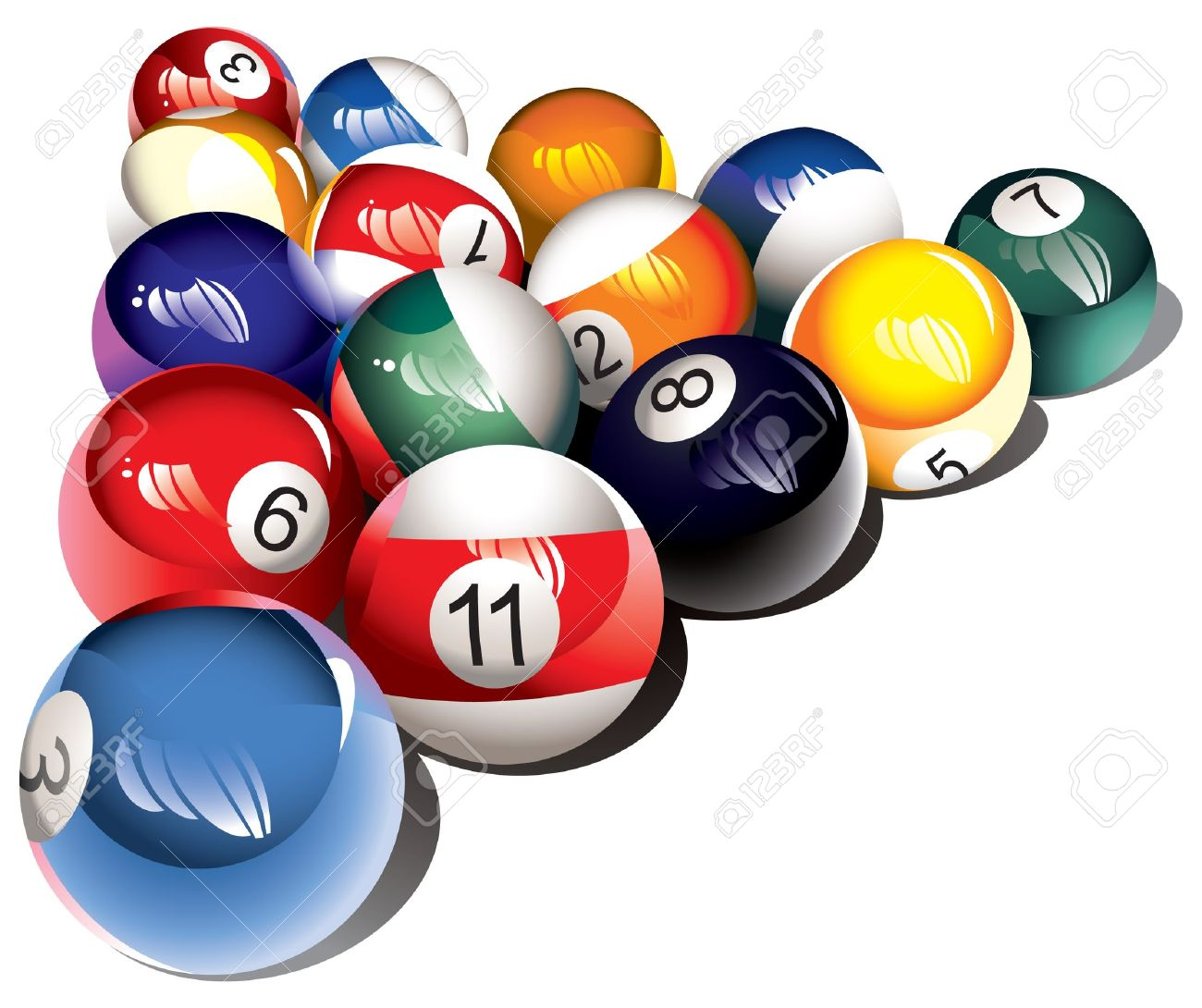 billiard online stock table of balls pool illustration