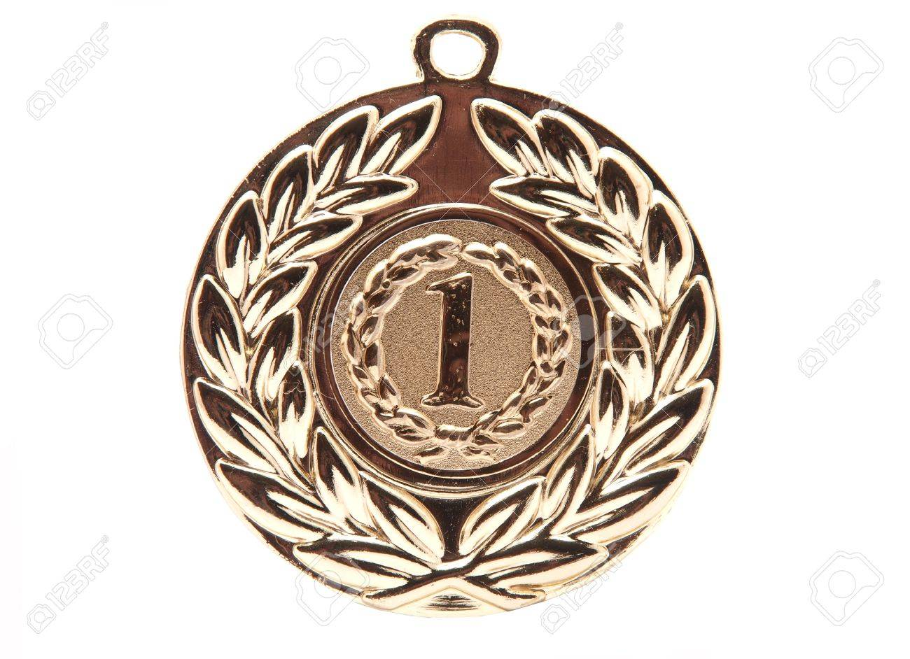 Golden medal. First palce. Stock Photo - 9172634