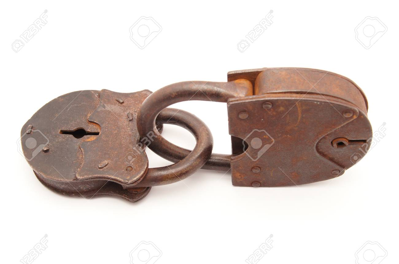 the old locks on a white background stock photo picture and royalty