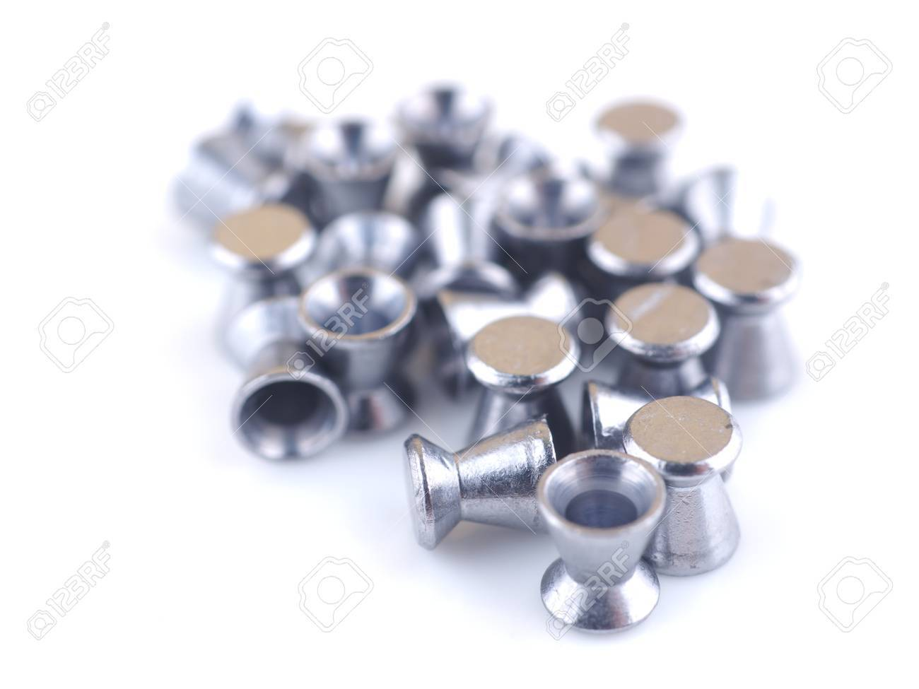 airgun bullets on a white background