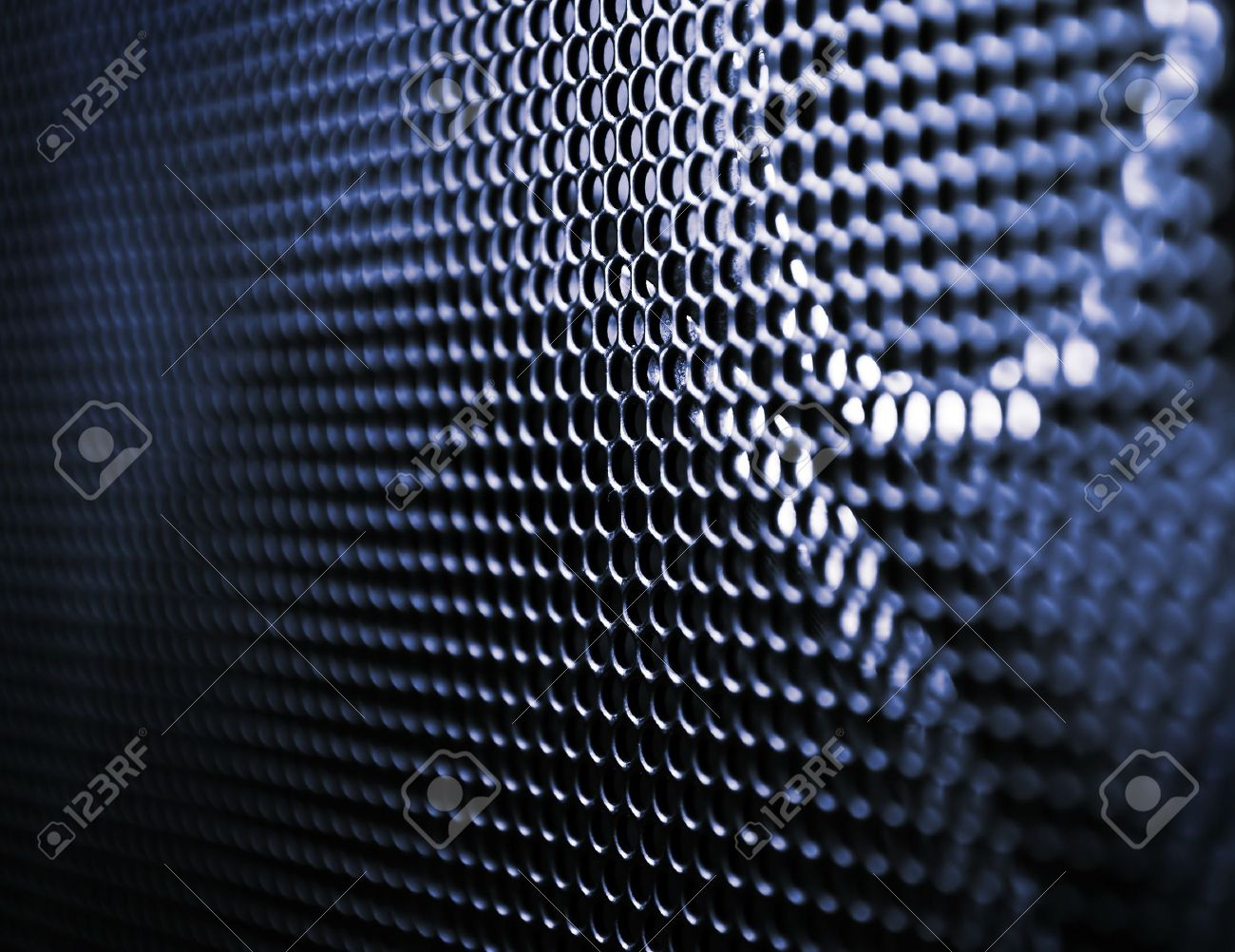 Close up grunge speaker grill, backgrounds, blue metal texture Stock Photo - 9881734