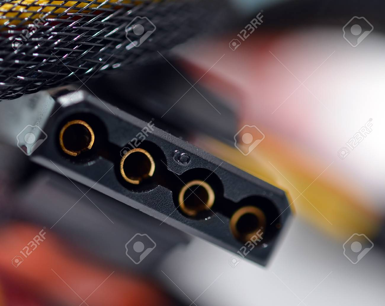 Computer cables with connector closeup Stock Photo - 9976014