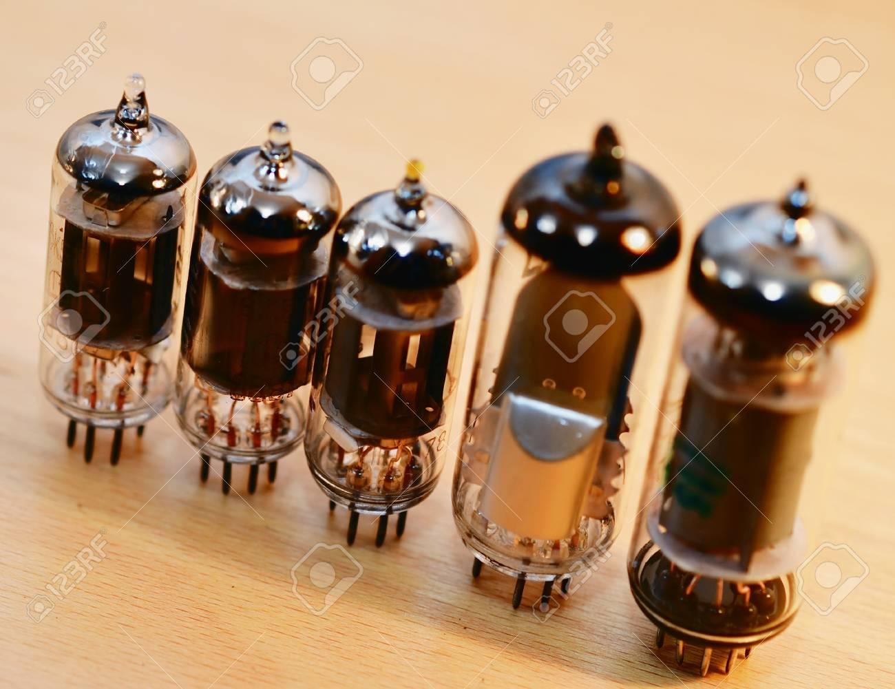 Old Vacuum Radio Tubes Stock Photo, Picture And Royalty Free Image. Image  10034205.