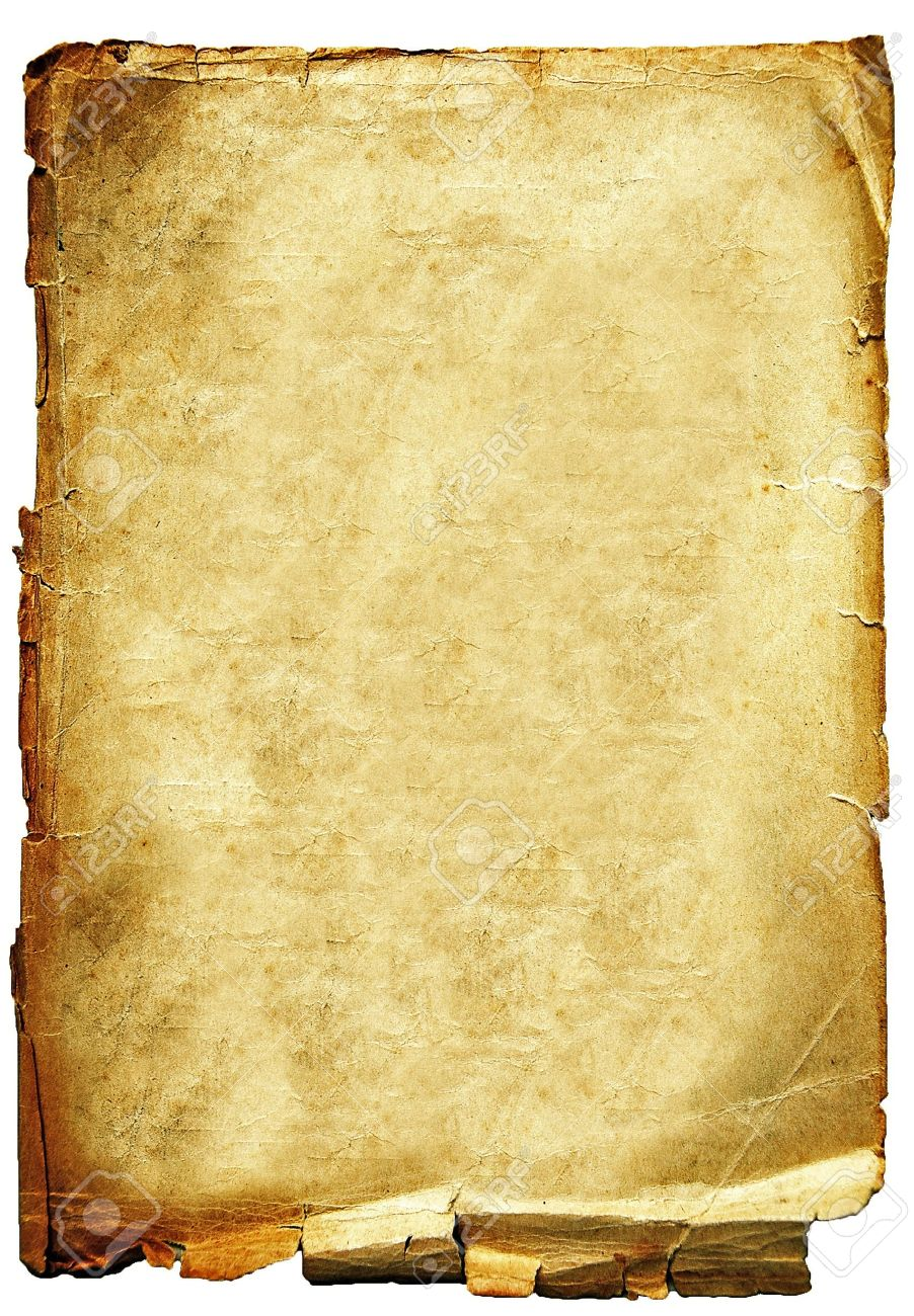 Old torn crumpled paper texture isolated on white background Stock Photo - 10083067