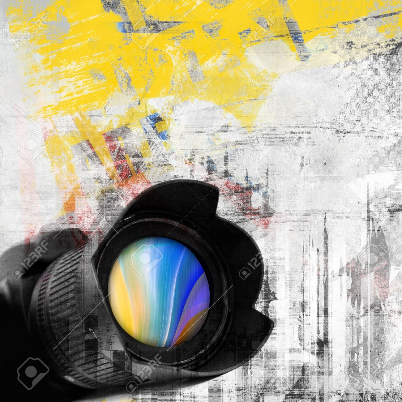 Abstract grunge background, photo camera Stock Photo - 10763162
