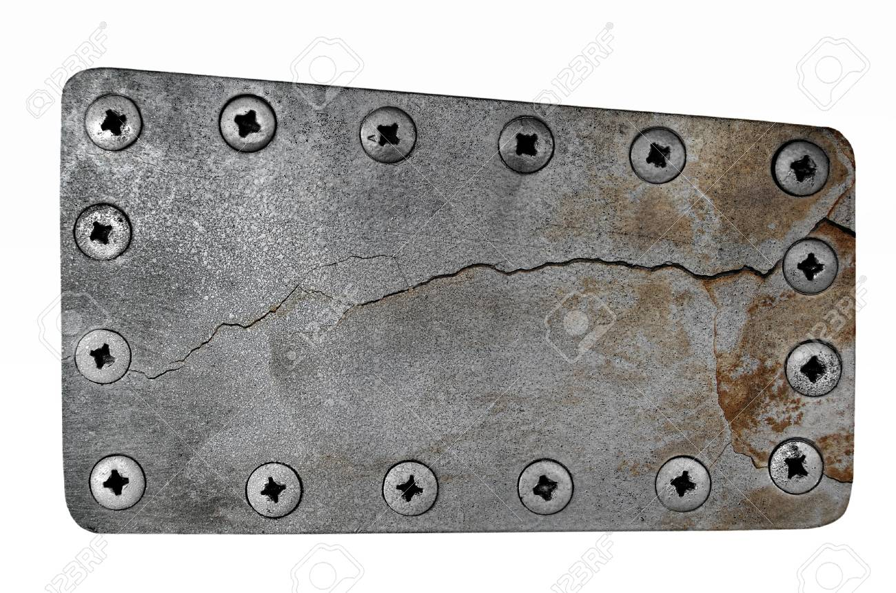 Metal plate isolated on white background Stock Photo - 13587796