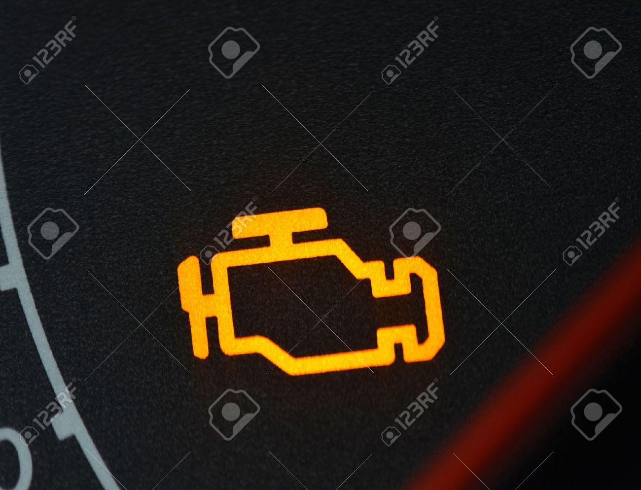 Fehlfunktionen Oder Check-Engine Auto-Symbol, Schließen ... | {Armaturenbrett symbole 43}