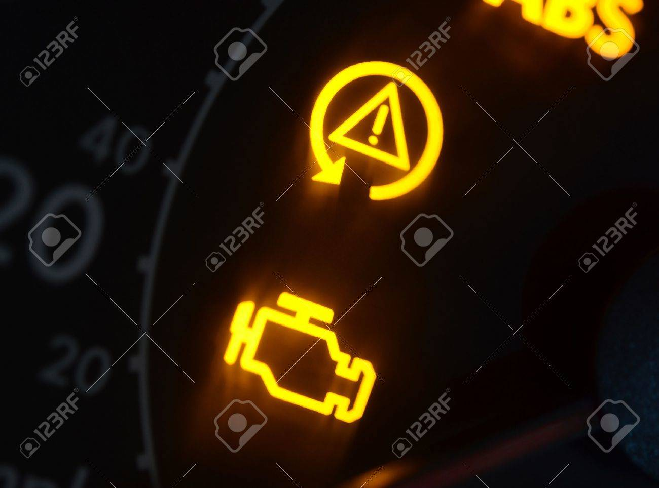 Car Dashboard Icons Stock Photos  Pictures Royalty Free Car - Car image sign of dashboard