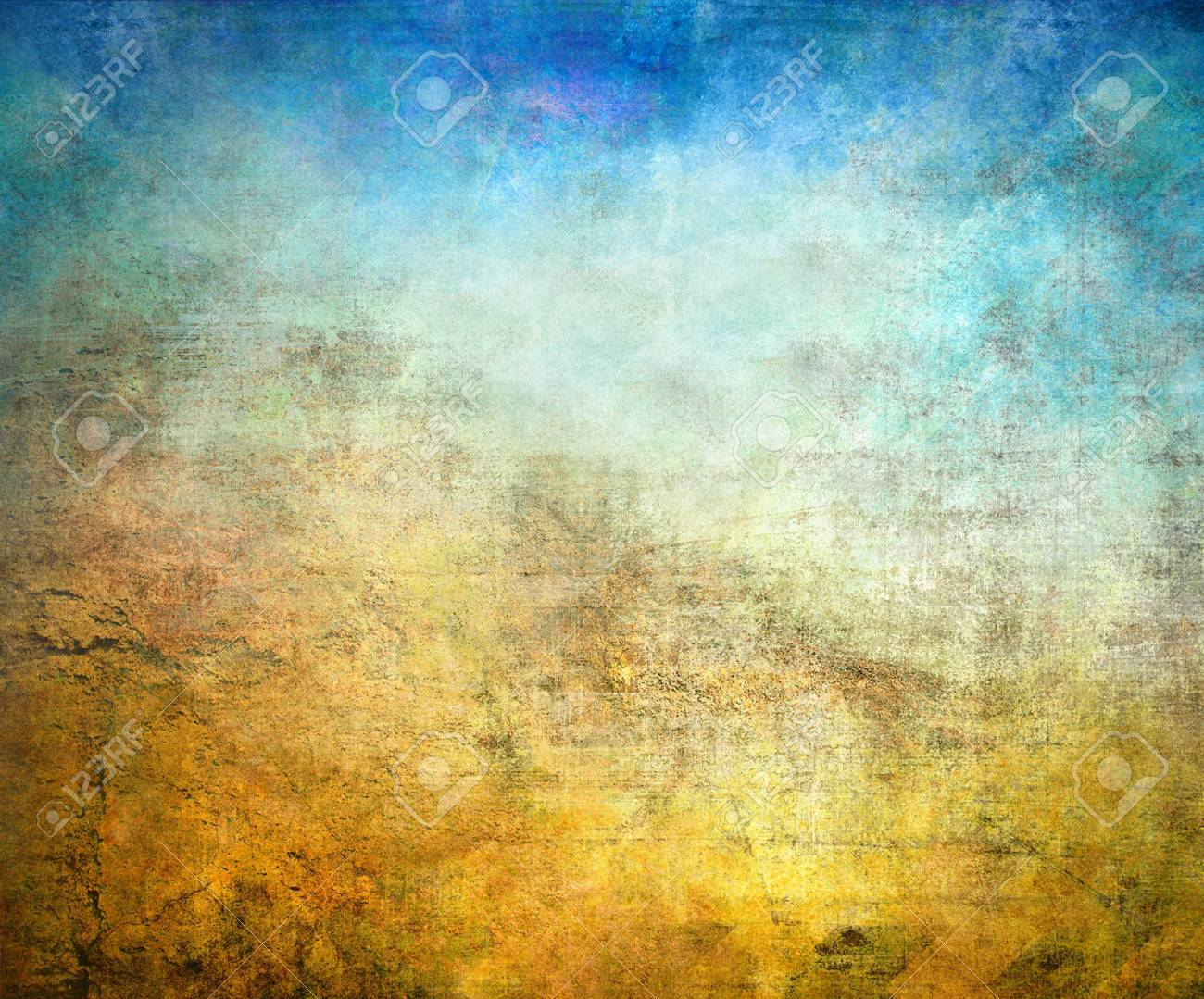 Grunge background, blue and brown color texture Stock Photo - 20952766