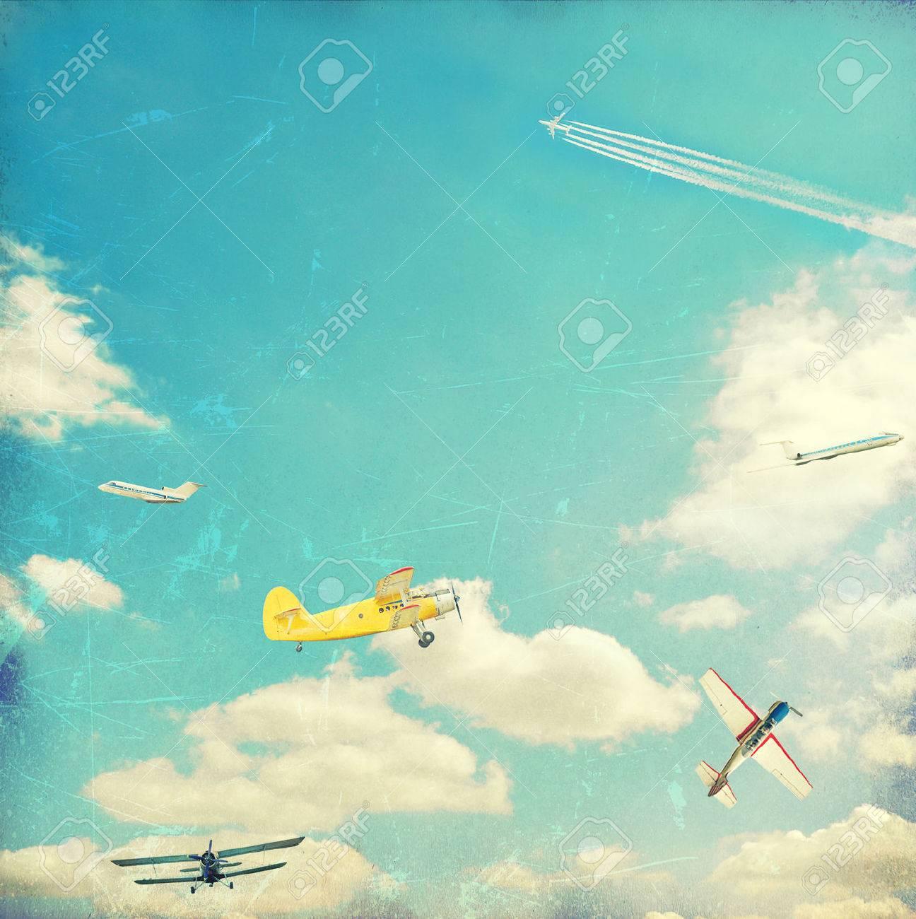 Aviation vintage background - 23054355