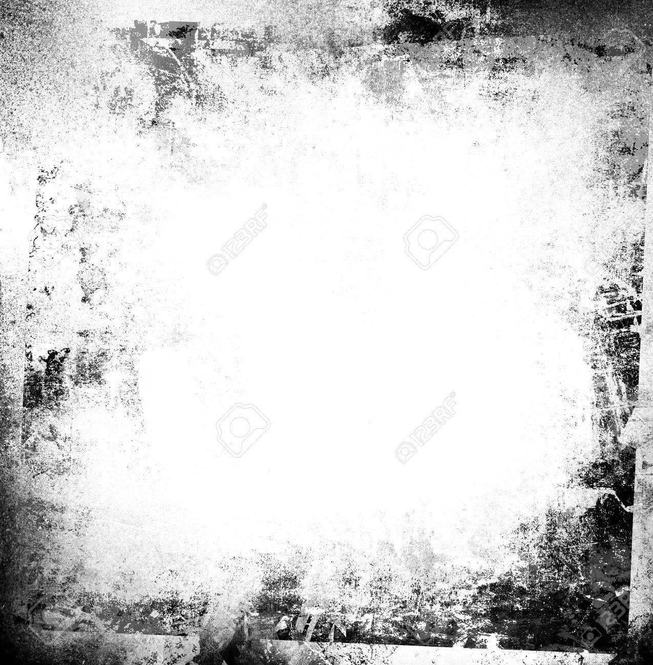 Black and white grunge frame - 31127890