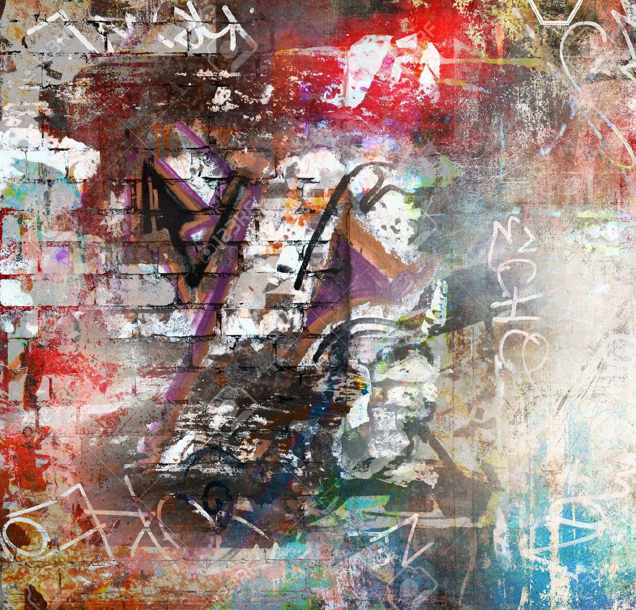 Graffiti wall background - 31127927