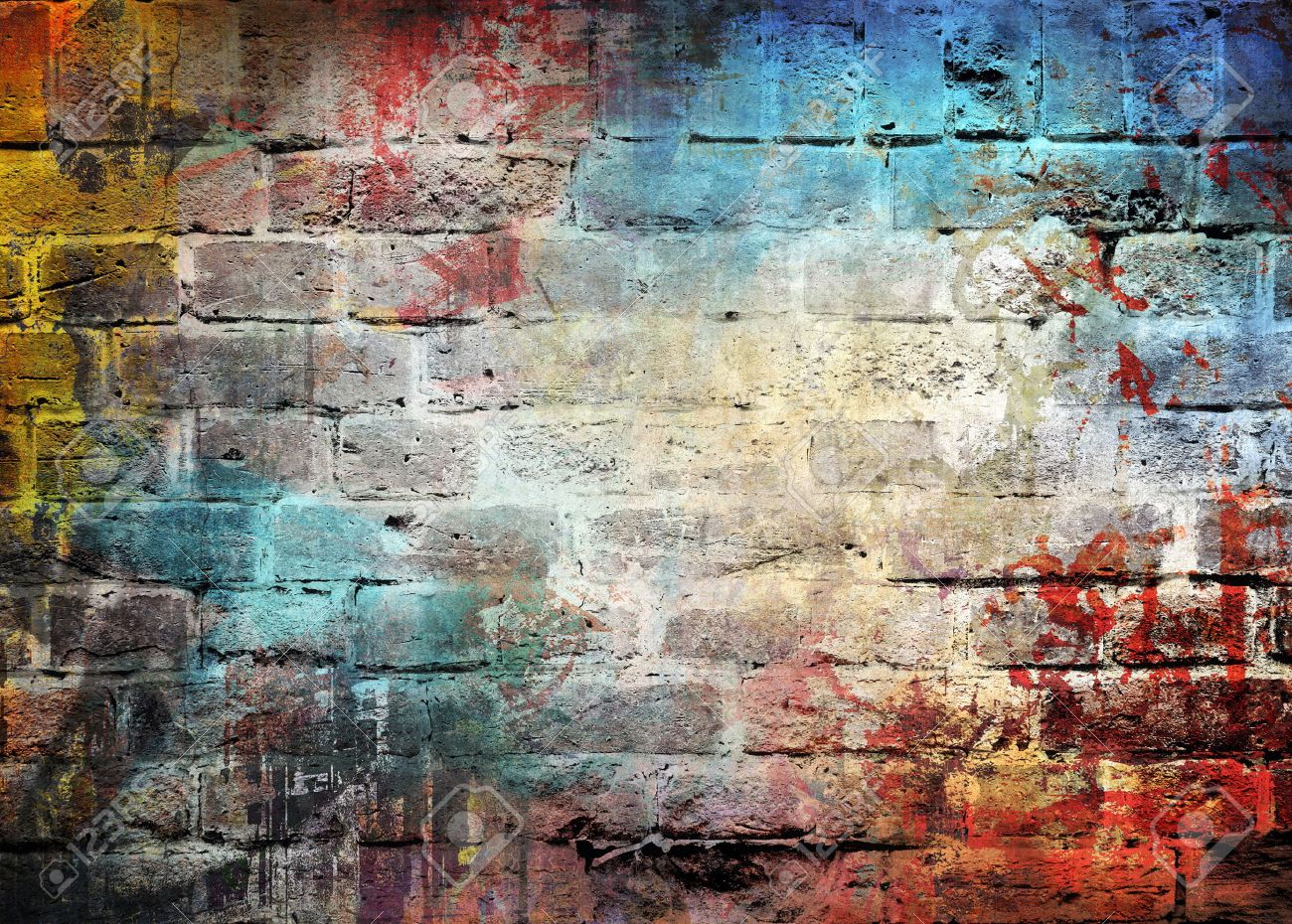 Graffiti wall pictures - Graffiti Wall Background Stock Photo 31127960