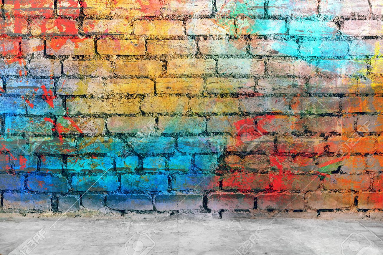 Grafitti wall background - Graffiti Wall Graffiti Brick Wall