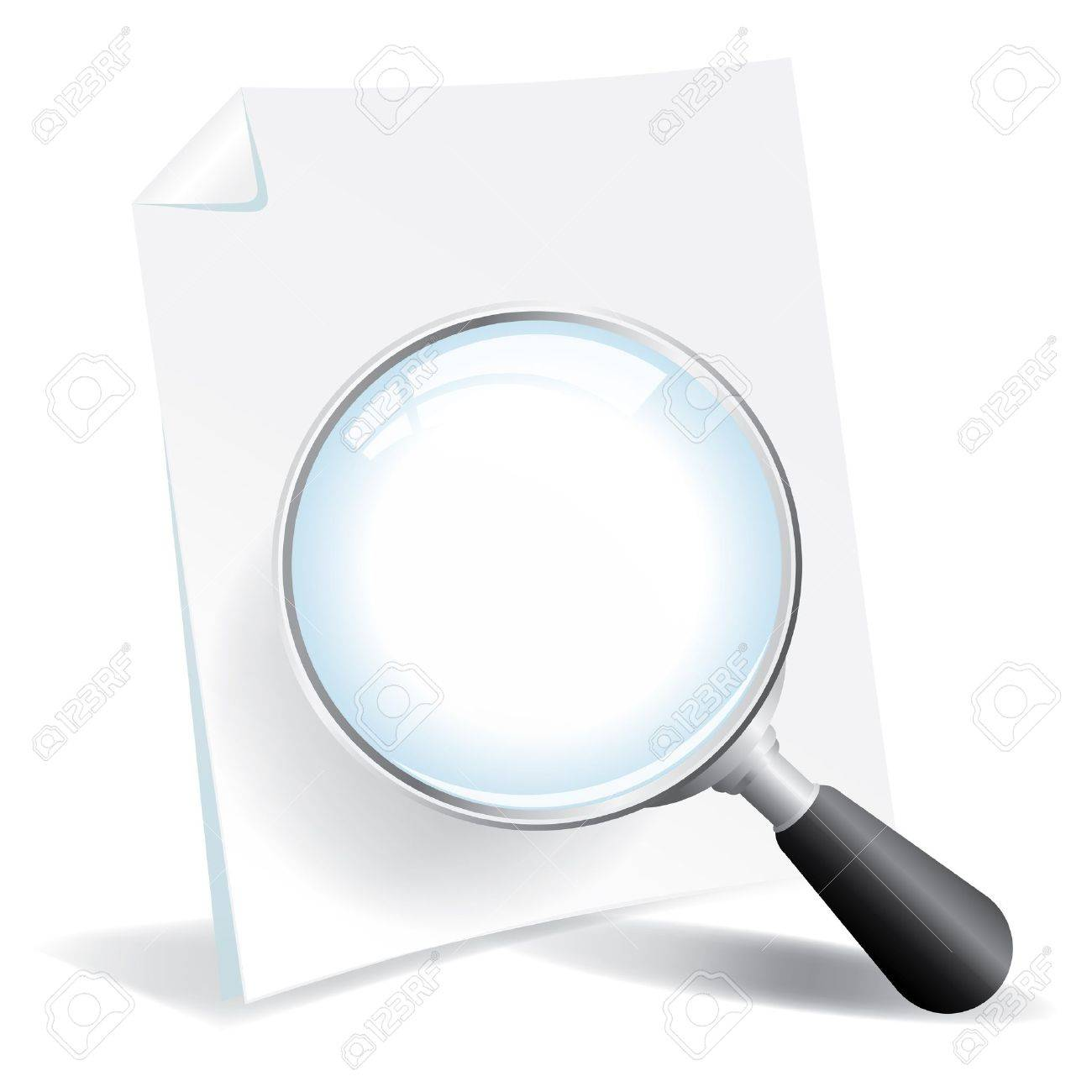 Examing a document with a magnifying glass Stock Vector - 18358433