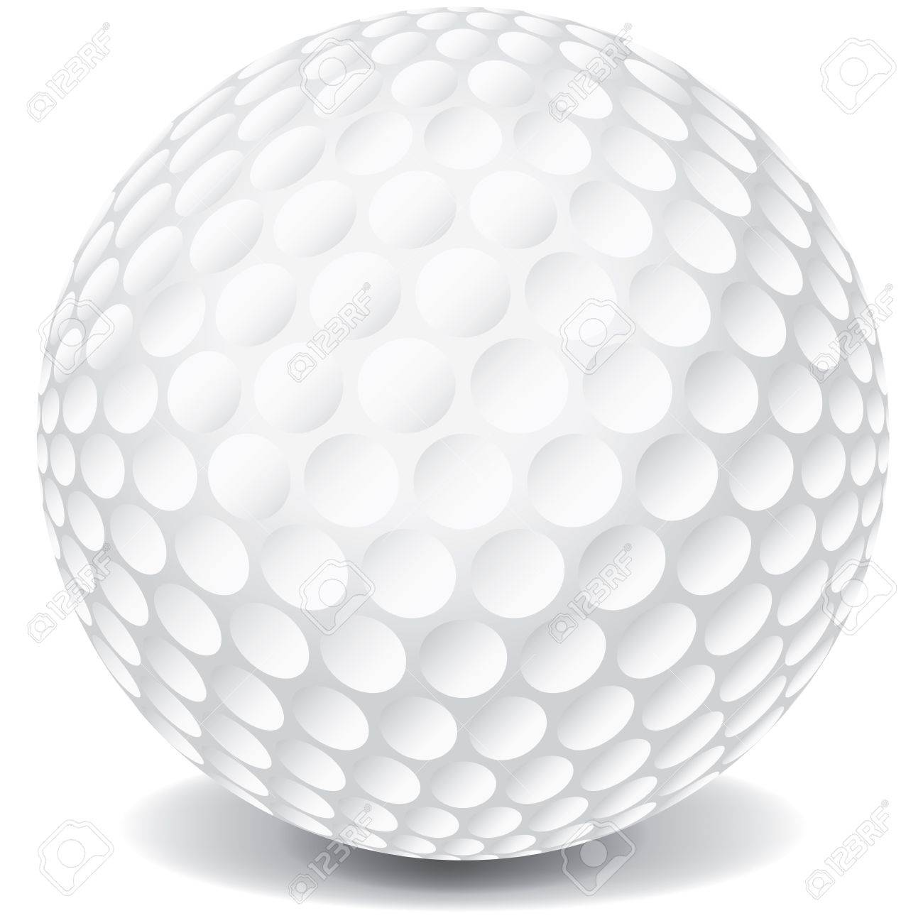 A white golf ball isolated on a white background with a dropshadow. Stock Vector - 20864671