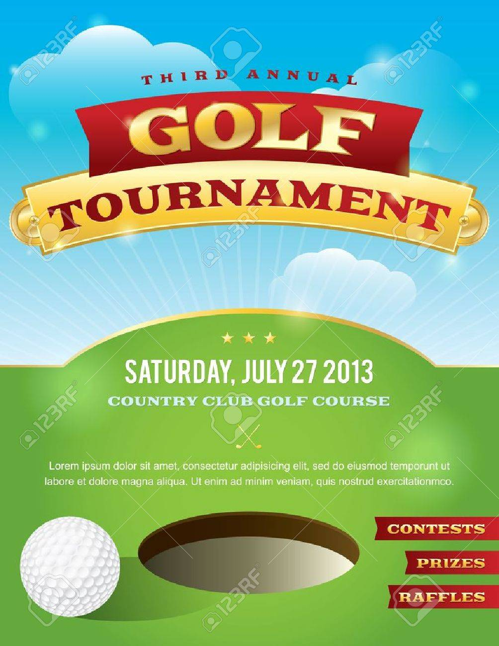 Golf Tournament Flyer Images & Stock Pictures. Royalty Free Golf ...