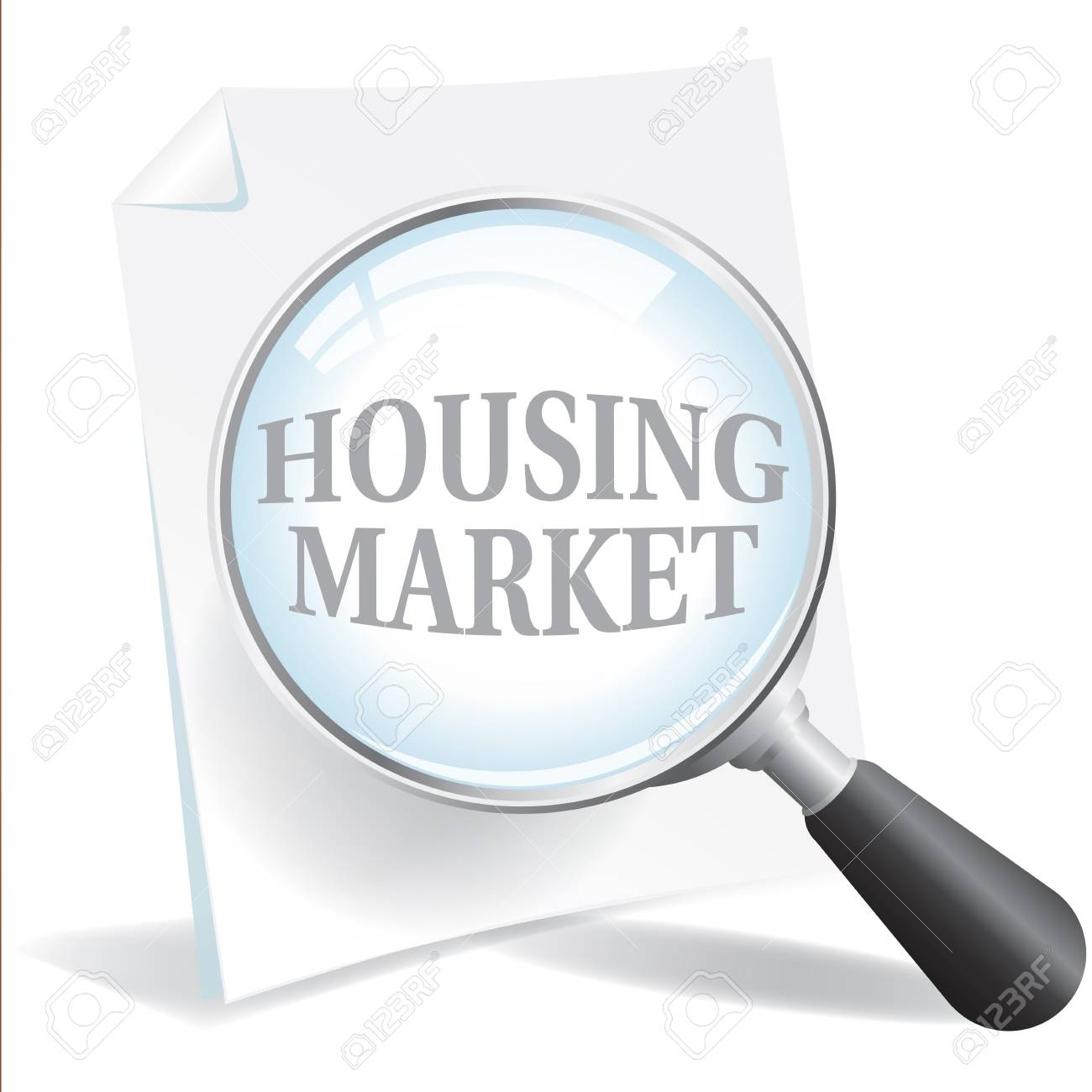 Taking a closer look at the Housing Market Stock Vector - 21931726