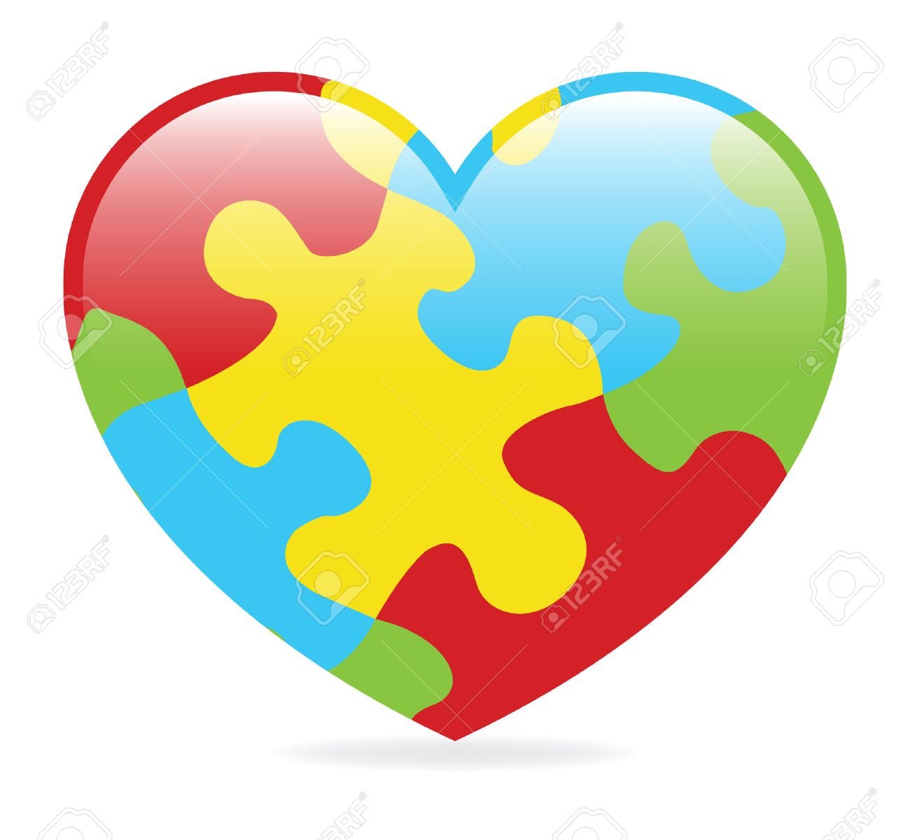 A colorful heart made of symbolic autism puzzle pieces royalty a colorful heart made of symbolic autism puzzle pieces stock vector 23302457 biocorpaavc