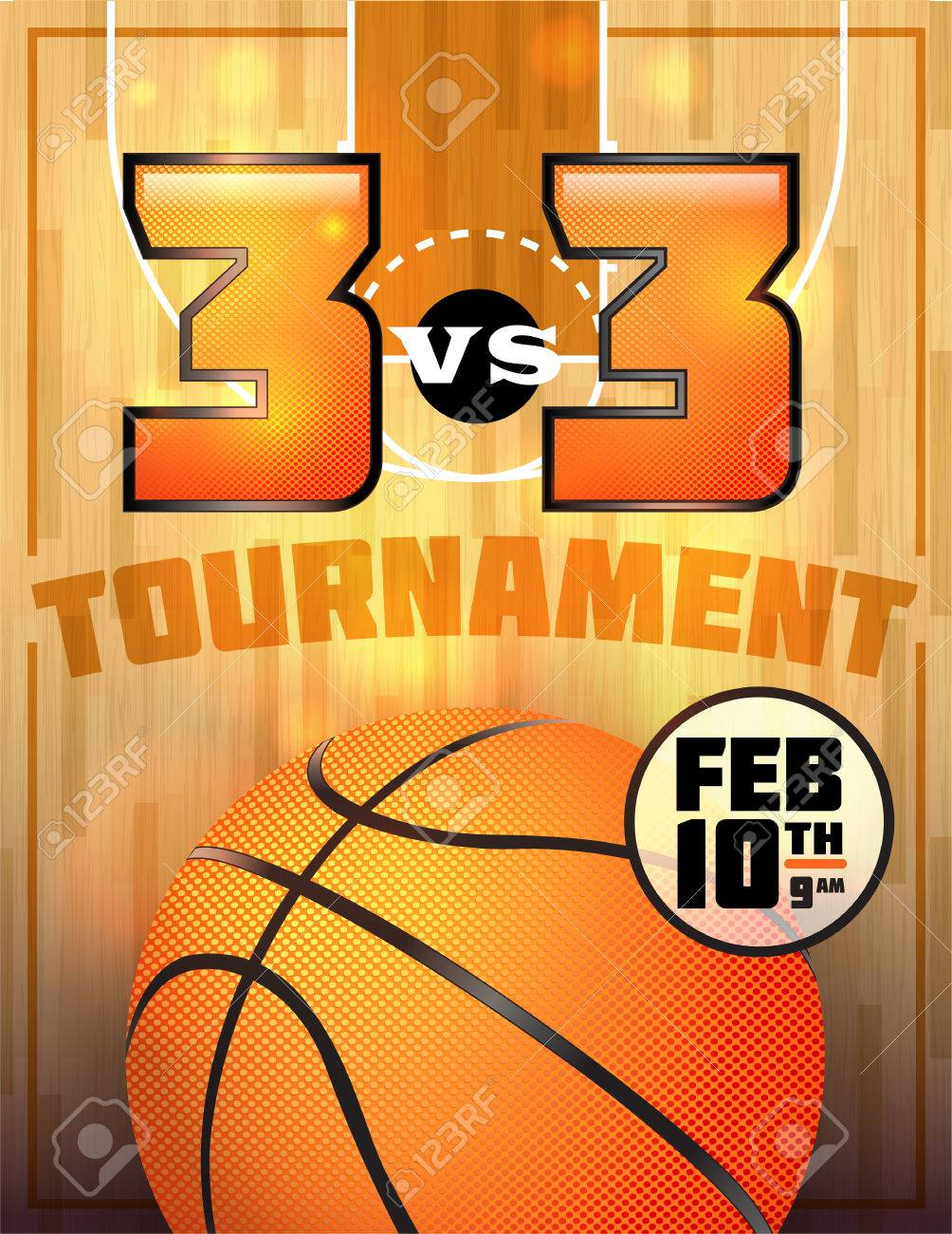 a basketball tournament flyer or poster perfect for basketball