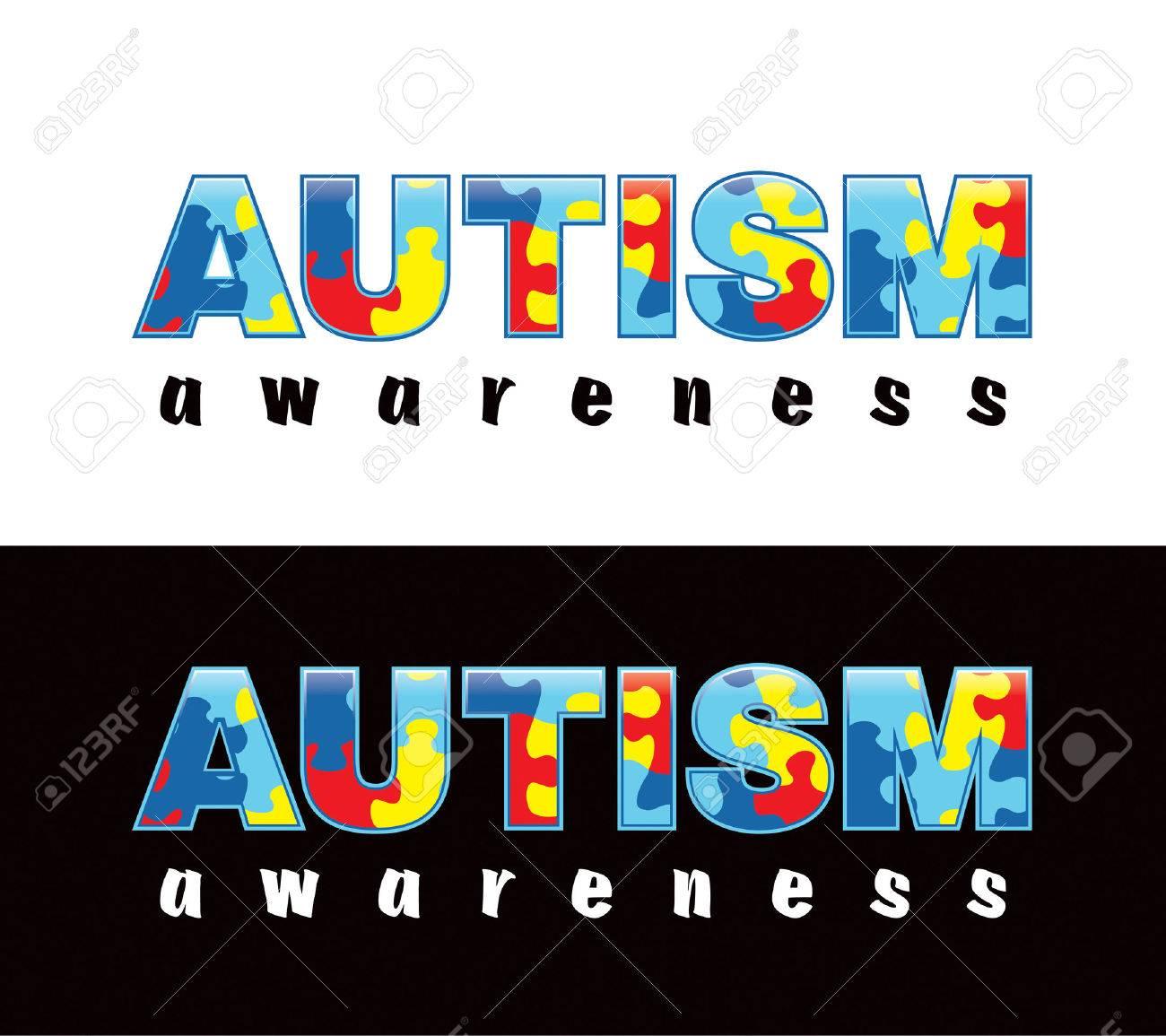La Frase Conciencia Del Autismo Escrito En Piezas De Un Rompecabezas Colores Y Símbolos Conciencia Del Autismo Siempre Convenientemente Sobre Un