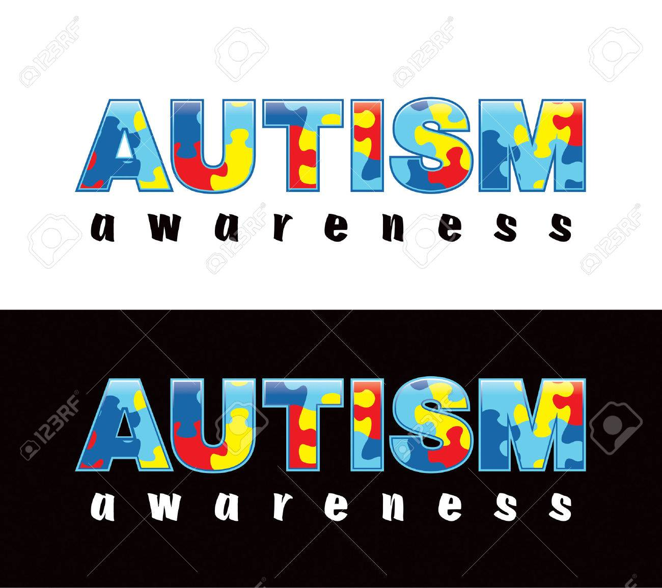 Autism images stock pictures royalty free autism photos and the phrase autism awareness written in jigsaw puzzle pieces autism awareness colors and symbols biocorpaavc
