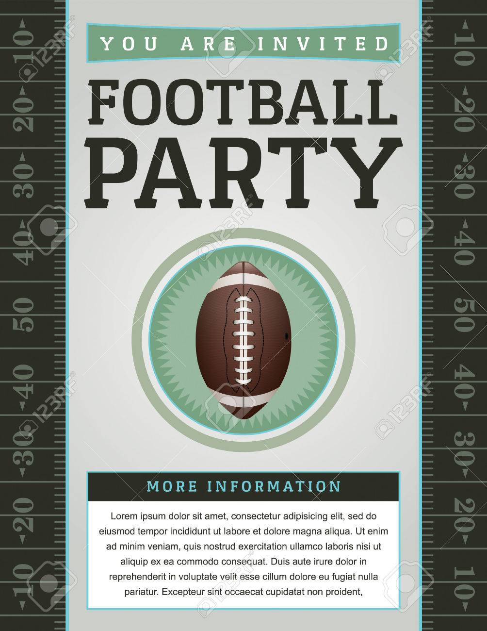 An American Football Flyer Design Perfect For Tailgate Parties