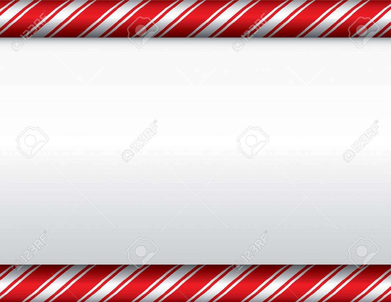 A Red And White Candy Cane Theme Christmas Background. Vector EPS ...