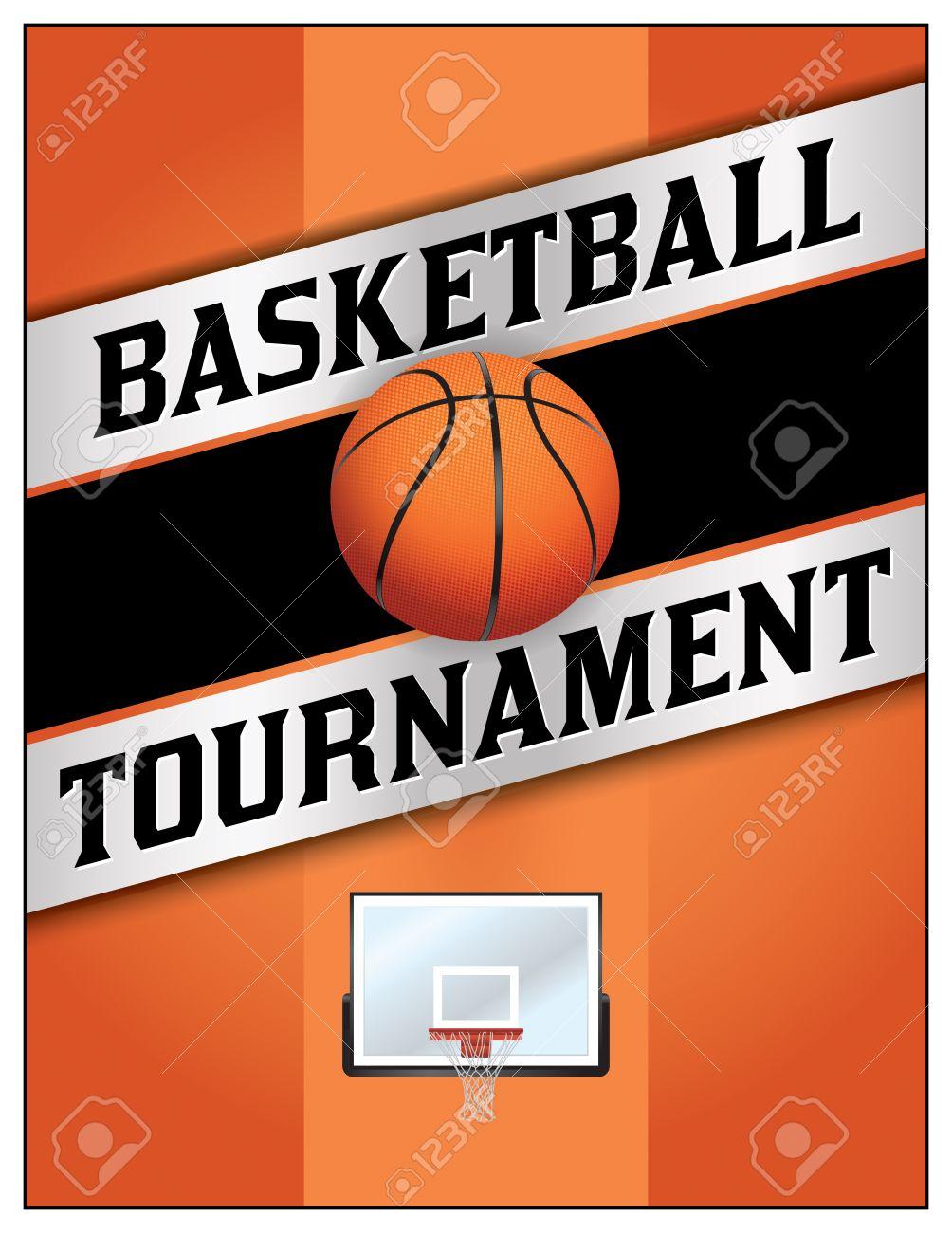 Ein Flyer Oder Poster, Illustration, Design Für Ein Basketball ...
