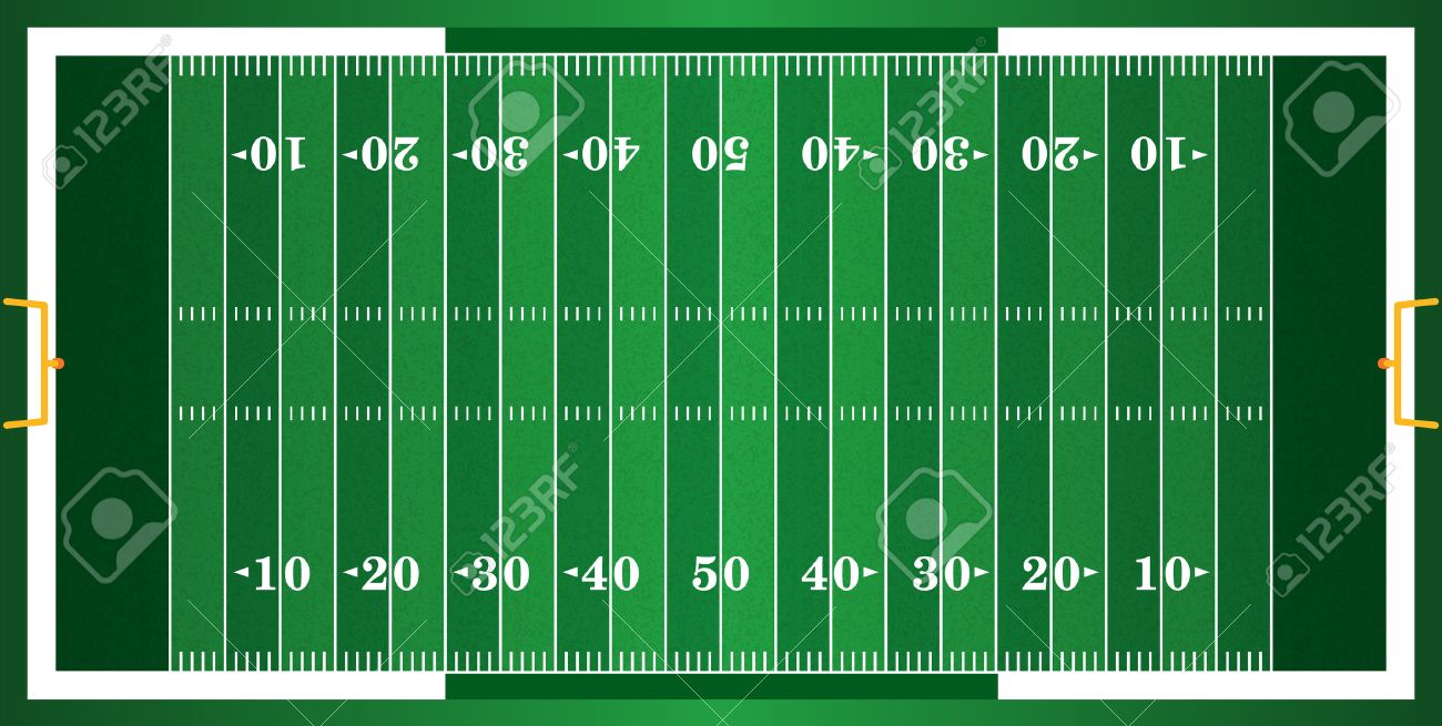 A grass textured American football field. EPS 10. File contains transparencies. - 49537368