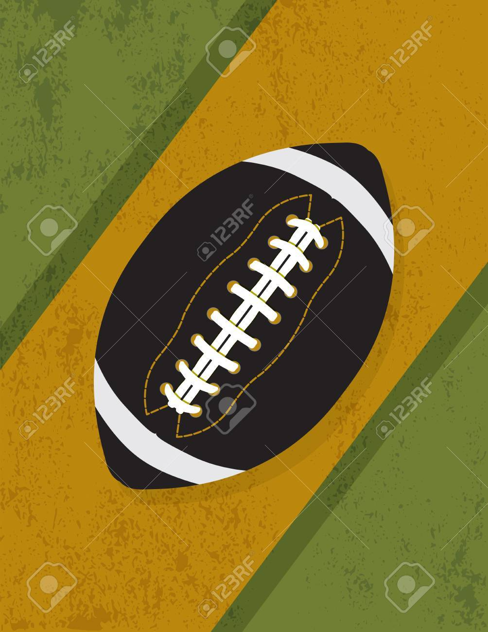 An illustration of a football icon on a grunge vintage background. Vector EPS 10 available. EPS contains transparencies. - 49538139