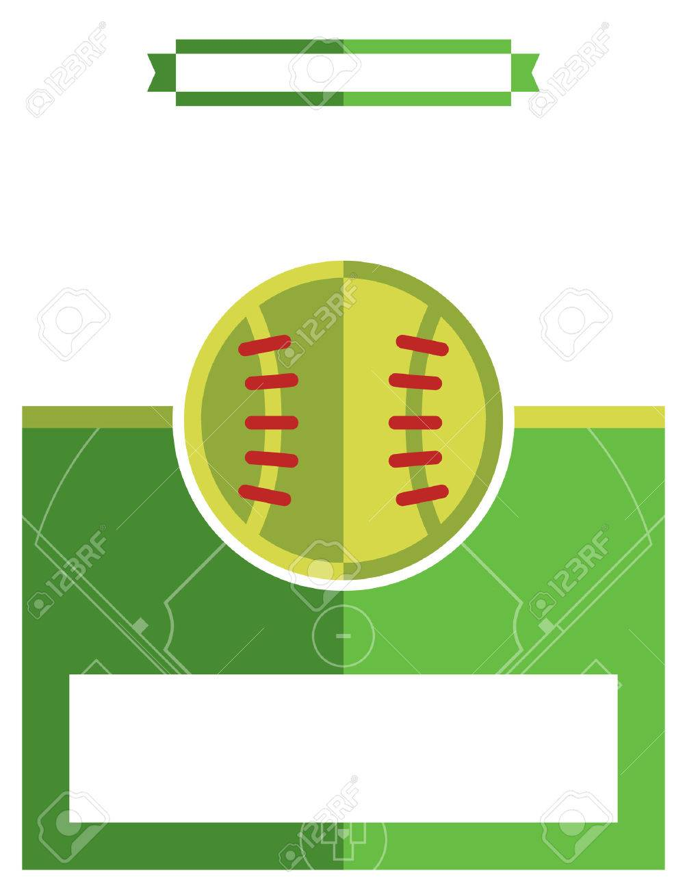 a template flyer background for a softball game vector eps 10 available stock vector