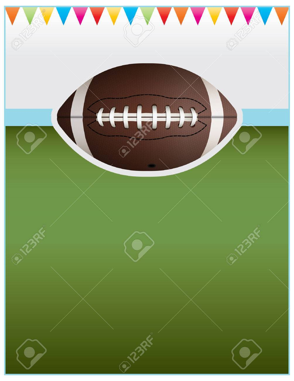 A Flyer Background Design Perfect For Tailgate Parties Football