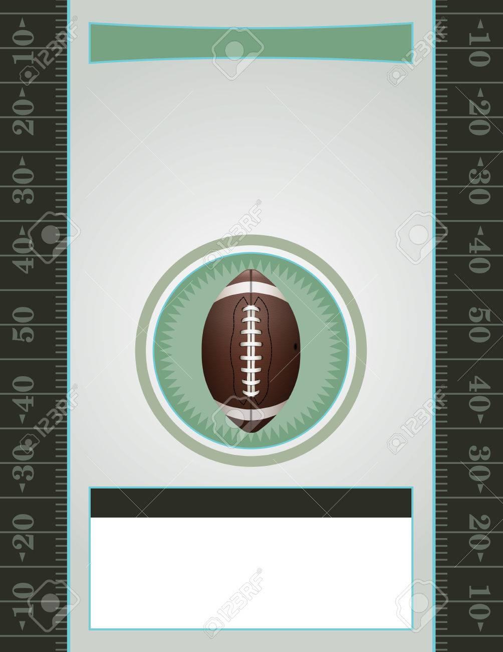 Un Vector De Fútbol Americano Tarjetas Informativas Perfecto Para Las Fiestas En Fútbol Invitaciones Etc