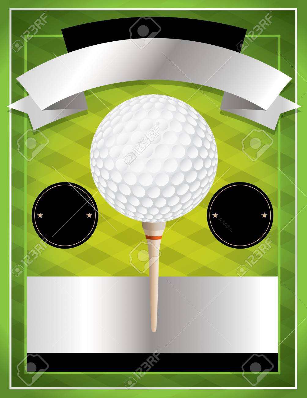 A vector illustration for a golf flyer. Perfect for golf tournaments and events. - 49867493
