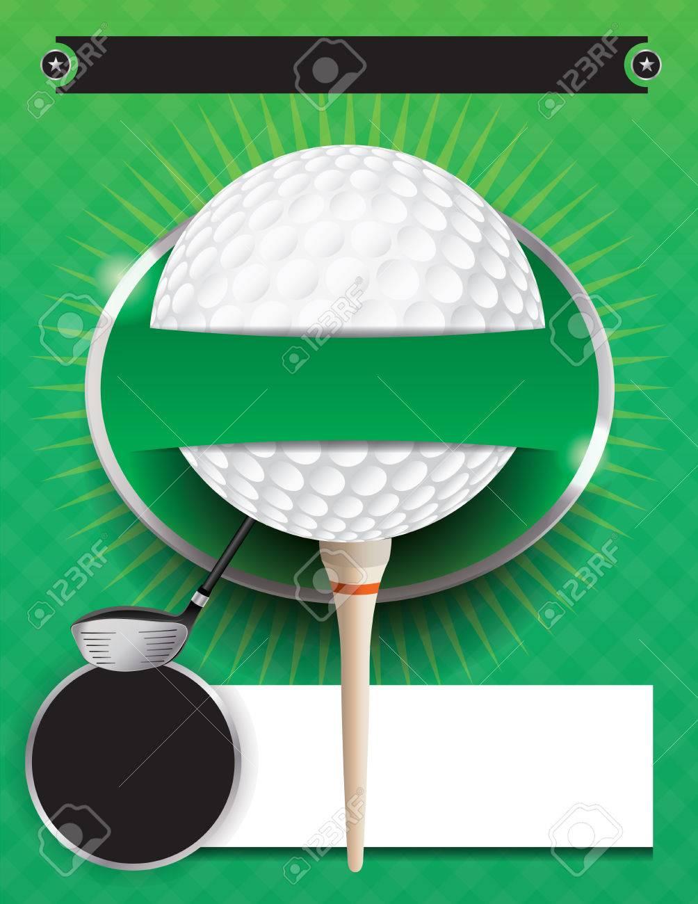An illustration for a golf tournament. - 49867497